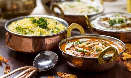 Menu indiano di carne o pesce con vino