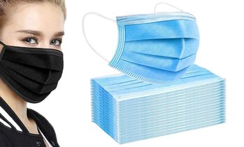 50 Three-Ply Face Masks