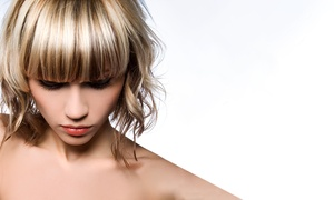 T'nT Hair Concept Salon: Haircut with Keratin Treatment, Ironing, and Optional Highlights at T'nT Concept Salon (Up to 52% Off)