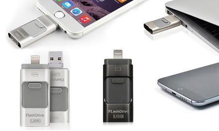 Memoria flash per iPhone, iPad o dispositivi Android disponibile in varie capacità e 2 colori