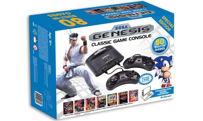 Sega genesis game console groupon goods - Sega genesis classic console with built in games ...