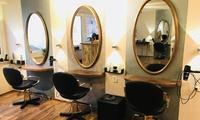 Waschen, Schneiden, Föhnen und Kur, opt. mit Ansatzfarbe oder Kammsträhnen, bei Friseur Sabine Esch (bis zu 58% sparen*)