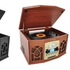 Bluetooth Retro Turntable Record Player with Vinyl-to-MP3 Recording