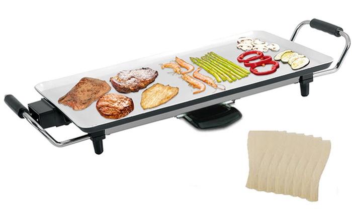 Electric Teppanyaki Table Top Grill   Groupon Goods