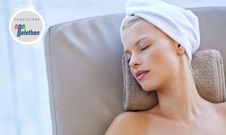 Rituale benessere con massaggio