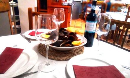 Menú para 2 o 4 personas con entrante, principal, postre o café y bebida o botella de vino desde 29,95 € en La Ponderosa