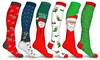 Holiday Fun Knee High Compression Socks (3-Pairs)