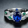 Lab-Created Emerald and Sapphire Swirl Cocktail Ring by Peermont