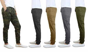 Men's Cotton Stretch Twill Joggers (2-Pack)