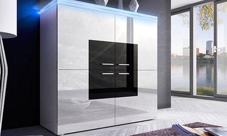 Credenze design Locronan disponibili con o senza LED e in 2 colori