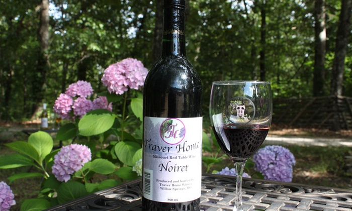 Traver Home Winery - Willow Springs: $14 for $28 Worth of Wine Tasting w glasses & bottle at Traver Home Winery
