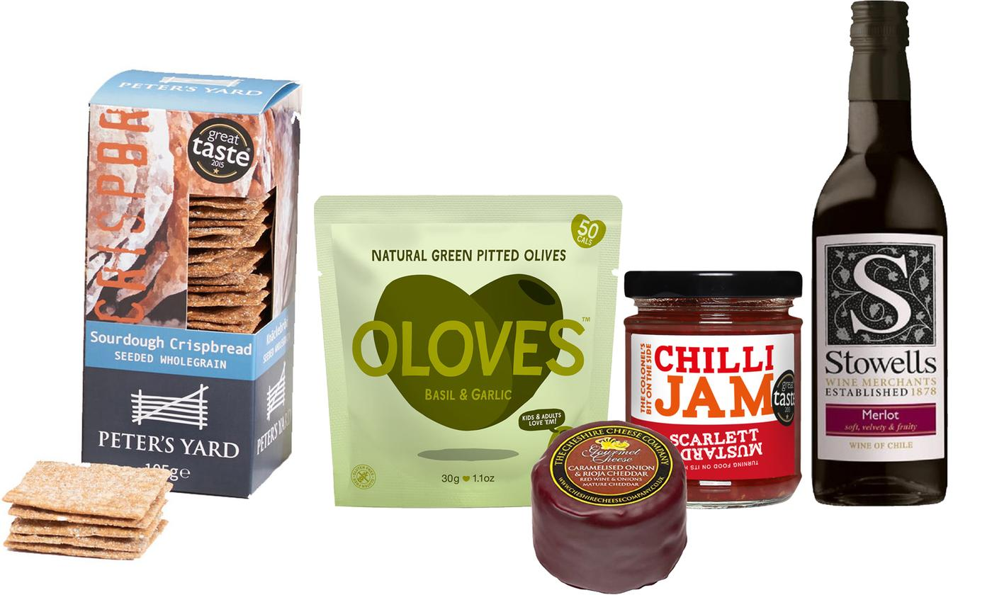 Cheese and Wine Hamper With Free Delivery