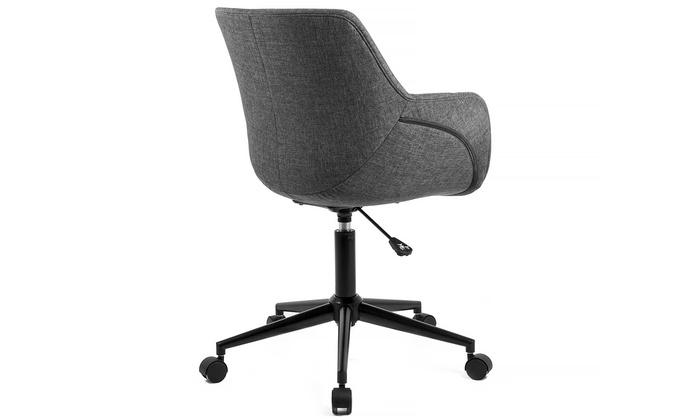 chaise de bureau skei en tissu groupon shopping. Black Bedroom Furniture Sets. Home Design Ideas
