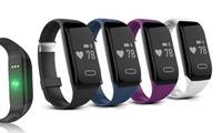1, 2, 3 ou 4 bracelets connectés Bluetooth avec moniteur de fréquence cardiaque
