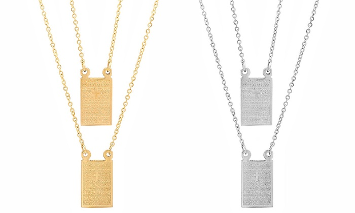 plated scapular necklace gold catholic company the