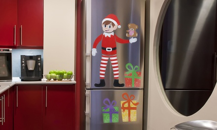 One, Two or Three Sets of Elf Printed Fridge Magnets
