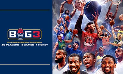 image for BIG3: 3-on-3 Professional <strong>Basketball</strong> on Friday, July 6, at 5 p.m