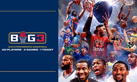 BIG3: 3-on-3 Professional Basketball on Friday, August 3, at 7 p.m.