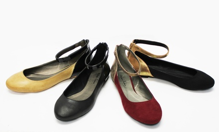Michael Antonio Panza Ankle-Strap Flats. Multiple Styles Available.