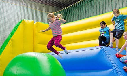 Entry to Inflatable World Glenfield: One ($9), Two ($18), Three ($27) or Four People ($36) (Up to $56 Value)
