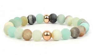 Bracelet perles Amazonite Chakra