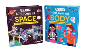 Factivity Amazing Body and Missions in Space Book Bundle (2-Pack)