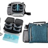 Insulated Lunch Tote with Meal Prep Containers: 8-Piece Set