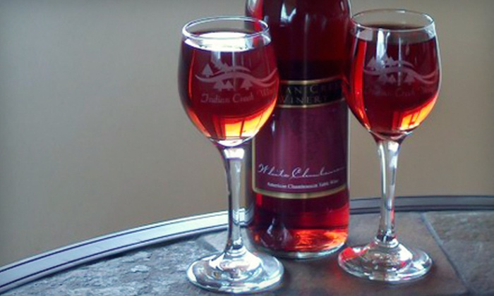 Indian Creek Winery - Georgetown: $29 for a Winery Day for Four with a Take-Home Bottle of Wine at Indian Creek Winery in Georgetown ($61 Value)