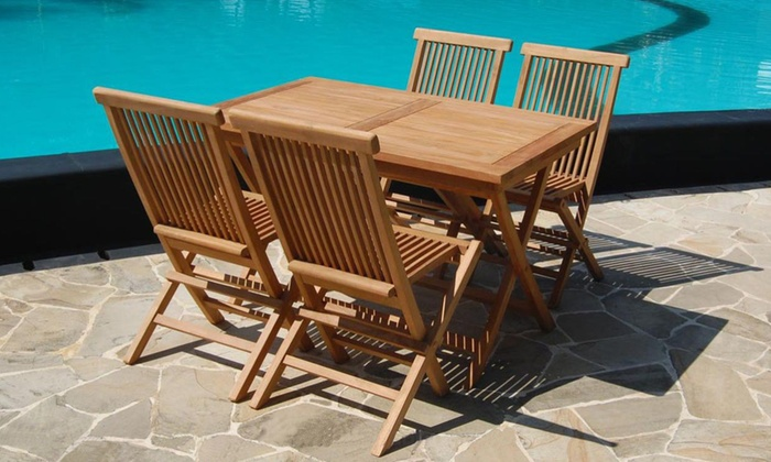 Amazing Solid Teak Wood Garden Furniture Groupon Goods Download Free Architecture Designs Sospemadebymaigaardcom