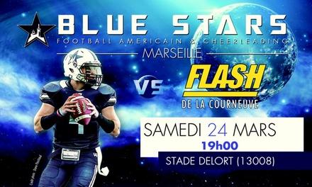 2 ou 4 places en catégorie 1 pour un match de Football américain des Blue Stars de Marseille, date au choix dès 5 €