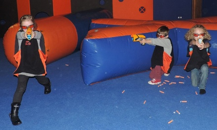 Entry to Nerf Blast Arena at Gulliver's for Up to Four, Three Locations
