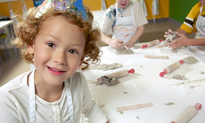 Kidcreate Studio - Multiple Locations: Children's Art-Themed Birthday Party for 10, Valid Monday–Thursday or Friday–Sunday at Kidcreate Studio (Up to 56% Off)