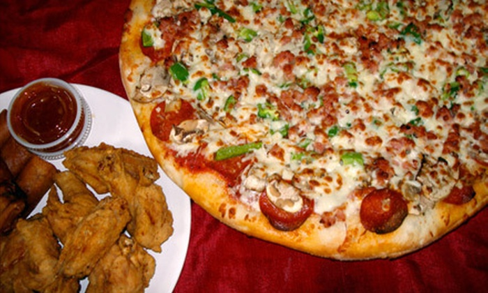 Raco's Pizzeria & Wings - East Windsor: $12 for a Jumbo Carry-Out Pizza with Up to Three Toppings at Raco's Pizzeria & Wings (Up to $24.49 Value)