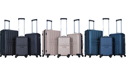 Set 3 valises en ABS, 4 roues 360°