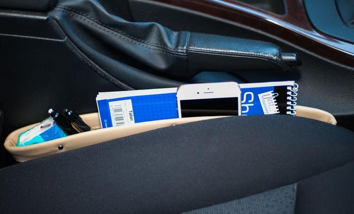 Ensemble de deux poches en cuir pour le siège de la voiture, coloris au choix, à 20€ (52% de réduction)