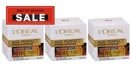 L'Oréal Paris Age Perfect Intense Nutrition Repairing Night Creams: Three $39 or Six $69 Don't Pay up to $221.94