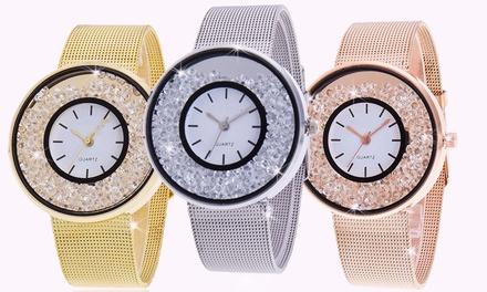 Orologio con cristalli Luxury Ladies, disponibile in 3 colori