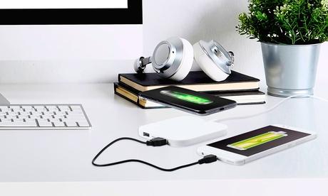 1 o 2 cargadores QI inalámbricos con doble salida USB extra de 2.100 mA
