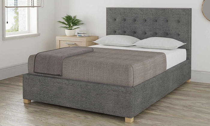 Marsden Studded Detail Ottoman Bed with Optional Bonnell or Pocket Mattress
