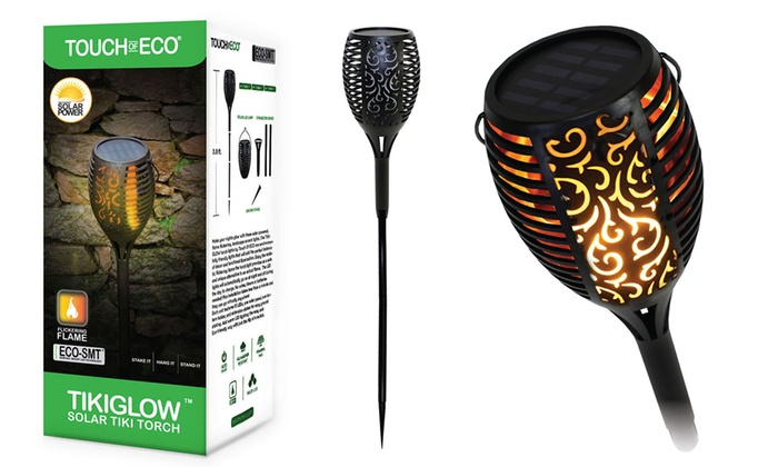Up To 70% Off on Solar Flickering Torch Light | Groupon Goods