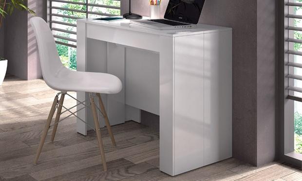 pratiques et modernes ces consoles extensibles en bois mdf sont dotes dun mcanisme mtallique coulissant conu pour faciliter son ouverture - Table Console Extensible Blanc Laque