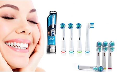 Hasta 8 packs de 4 recambios compatibles Oral-B con opción a cepillo eléctrico Oral-B Advance Power