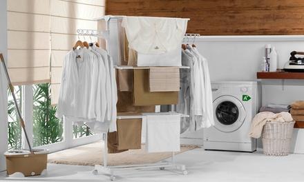 1x oder 2x Wäscheständer XL Maxi Compact aus Edelstahl