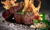 Steak-Menü mit Eistee