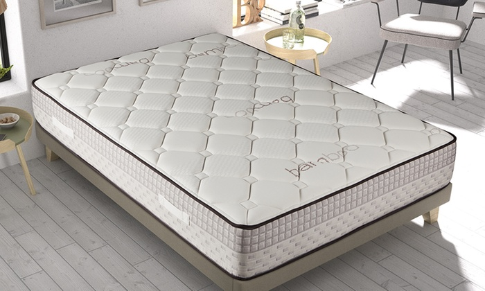 jusqu 39 85 matelas m moire en bambou 26cm groupon. Black Bedroom Furniture Sets. Home Design Ideas
