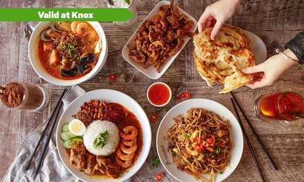 $28 , $36 or $64 to Spend on Malaysian Food and Drinks at PappaRich Knox