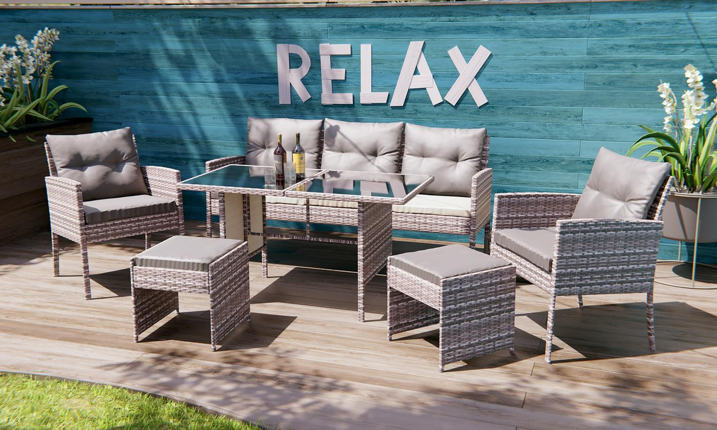 Sydney Poly Rattan Garden Furniture Set from £289.99