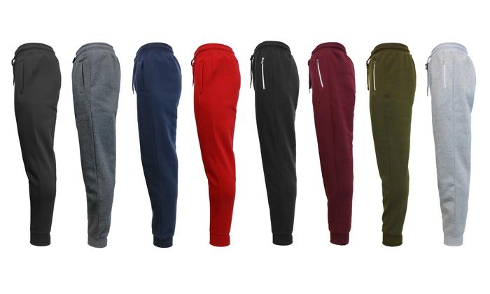 Men's Slim-Fit Basic Fleece Joggers (2-Pack)