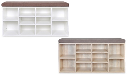 sitzbank zur schuh aufbewahrung groupon. Black Bedroom Furniture Sets. Home Design Ideas