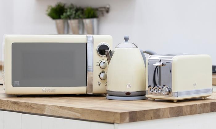 Retro Tabak Keukens : Swan 3 piece retro kitchen set groupon